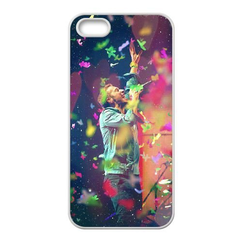 Coldplay coque iPhone 5 5S Housse Blanc téléphone portable couverture de cas coque EBDXJKNBO16999