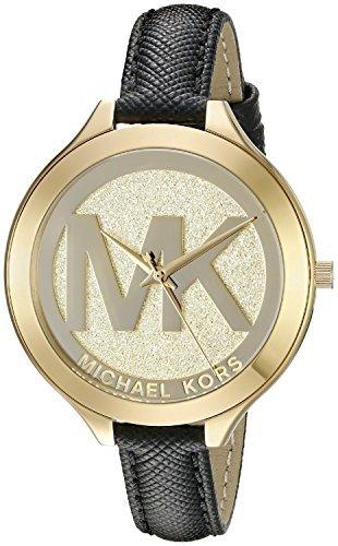 michael-kors-womens-slim-runway-42mm-black-leather-band-quartz-watch-mk2392