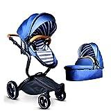 XINYU Kinderwagen Gesetztes Hohes Landschaftsfaltendes Babykind Neugeborenes Babykinderwagen-Babyauto,Blue