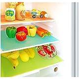 Yellow Weaves™ Refrigerator Drawer Mats / Fridge Mats Pack of 6 pcs 12X17 Inches (Multi)