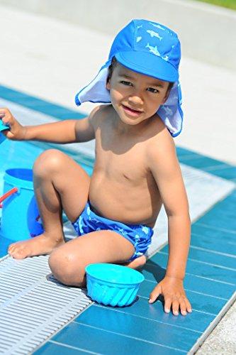 Playshoes Baby - Jungen Schwimmbekleidung 460120 Badewindel, Badehose, Schwimmwindel Hai von Playshoes mit höchstem UV-Schutz nach Standard 801 und Oeko-Tex Standard 100, Gr. 74/80, Blau (original) -
