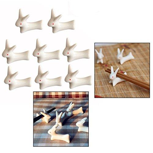 OFKPO 8 Stück Essstäbchen Halter aus Keramik,Messerbänkchen für Haus,Restaurant