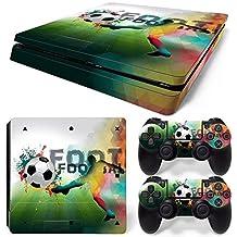 46 North Design Ps4 Slim Playstation 4 Slim Pegatinas De La Consola Football + 2 Pegatinas Del Controlador