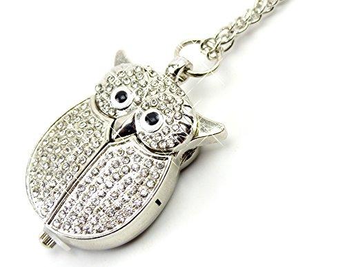 Preisvergleich Produktbild Uhr Kettenuhr Umhängeuhr Eule Filou Ketten Uhr Silver Glamour