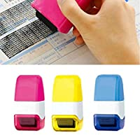 Vektenxi 1Pcs Guard Your ID Roller Stamp Privacy Identity Theft Protection - Self Inking Stamps Messy Code Security Office Supplies Blue Durable and Practical