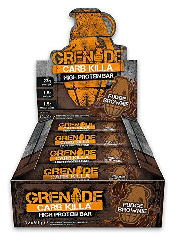 Grenade Carb Killa High Protein And Low Carb Barre Nutritive Fudge Brownie 12 x 60 g