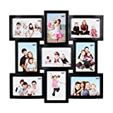 #7: JaipurCrafts Premium Collage Photo Frame (Photo Size - 4 x 6, 9 Photos) (Black)