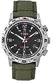 Timex T2P286 Orologio da Polso, Quadrante Analogico da Uomo, Cinturino in Tessuto, Colore Verde
