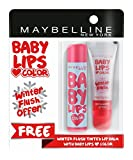 #5: Maybelline New York Baby Lips, Winter Flush, 4.4g and Baby Lips, Candy Rush Cotton Candy, 4g