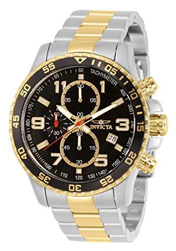 Invicta 14876 Specialty Herren Uhr Edelstahl Quarz schwarzen Zifferblat (Chronograph Analog Invicta)