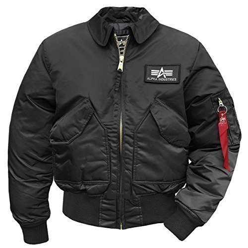 Alpha Industries – CWU 45 Chaqueta de aviador negro XL