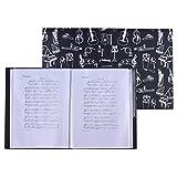 ammoon Partitura Papel de Archivo de Puntuación Almacenamiento de Documentos Tamaño A4 40 Bolsillos del Paquete