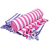 Sathiyas Supreme Turkish Cotton Bath Towel-2pcs Combo (Lavender || Pink)