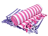 #8: Sathiyas Supreme Turkish Cotton Bath Towel-2pcs Combo (Lavender || Pink)