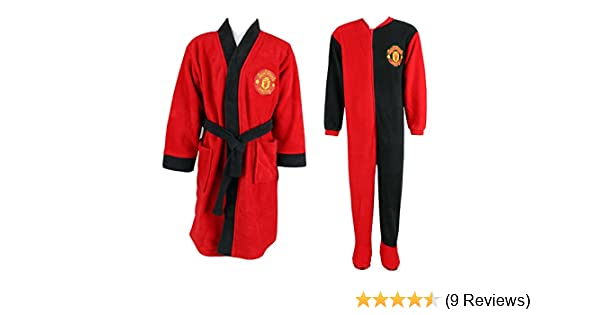 Kids Boys Manchester United Dressing Gown Pyjama and Man Utd ...