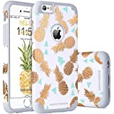 "Funda iPhone 6, Funda iPhone 6s, BENTOBEN Carcasa Diseño de La Piña Oro del Ultra Delgado, Duro PC TPU Suave Brillante Anti-Scratch Case Protectora Cover para iPhone 6 6s 4.7"", Gris"