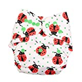 Fig o honey Baby's Reusable One Size Printed Cloth Diaper with Absorbent Inserts (White)