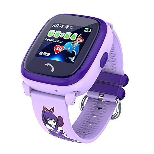 MiniInTheBox ips lbs reloj inteligente niños impermeables nadan sos llaman los niños del perseguidor del monitor de seguridad anti-perdida NO GPS (Purple)