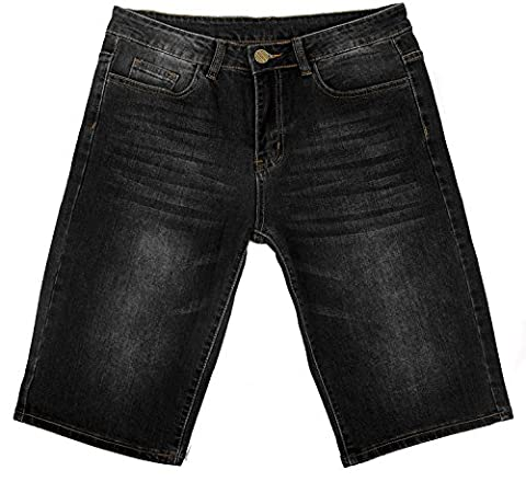 short Homme Jean noir fashion Court Jeans shorts Classic Straight