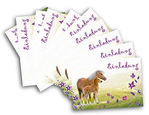 preisvergleich 12 pferde einladungskarten zum kindergeburtstag willbilliger. Black Bedroom Furniture Sets. Home Design Ideas