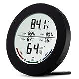 Digital Hygrometer Thermometer, ORIA Digital Hygrometer und Luftfeuchtigkeit Monitor, Thermo-Hygrometer mit LCD-Display, Komfort Indikatoren, Min/Max Records, °C / °F Schalter und Trend für Zuhause, Büro, Schlafzimmer und Küche ect