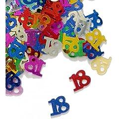 Idea Regalo - Coriandoli di tavolo compleanno 18 anni multicolori (14 gr)