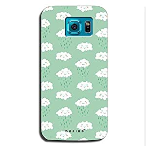Mozine Cloud Pattern Printed Mobile Back Cover For Samsung S6 Edge