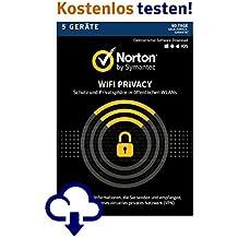 Norton Wi-Fi Privacy | 5 Geräte | PC/Mac/Android | 12 Monats Abonnement - monatliche Abrechnung