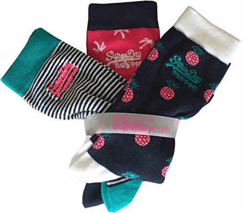 Socken Superdy Tropical Sock Triple Pack Kontrollierte Wohnraumlüftung, mehrfarbig
