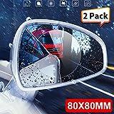 Gallocabe Pellicola protettiva per specchietto retrovisore auto, Anti-Fog Anti-Glare Anti-graffio, vetri Nano trasparente per auto Accessori per specchietto retrovisore 80 x 80 mm