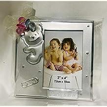 Marcos fotos para bautizo niño o niña GRABADOS PERSONALIZADOS (pack 12 unidades) portafotos regalos