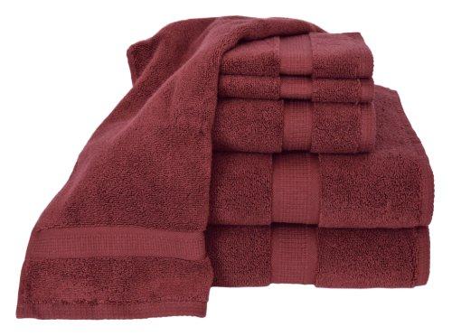 Calcot blumenzüchtern Collection 100Prozent Supima Exklusives Frottier Handtuchset Baumwolle Set burgunderfarben (Supima-baumwolle Bath Sheet)