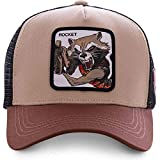 Capslab - Gorra Trucker Marrón Rocket Raccoon ROC1 Marvel Comics
