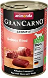 Animonda GranCarno Hundefutter Sensitive Adult Reines Rind, 6er Pack (6 x 400 g)