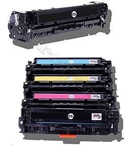 5 Toner pour HP CF 380X 381A 382A 383A LaserJet Pro M476DN DW NW M470 Series