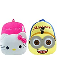 Kids School Bag/Nursery/Picnic/Carry/Travelling Bag Soft Plush Backpack School Bag For Kids- 2 To 5 Age - Pack...