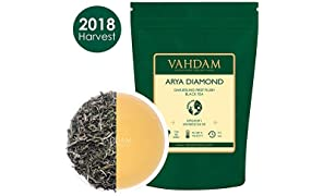 Arya Diamond Darjeeling First Flush Organic Black Tea, 100% Pure Unblended Black Tea Loose Leaf Sourced Direct from The Arya Tea Estate (25 Cups), 50gm