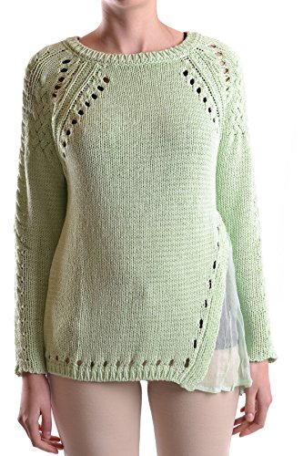 Twin Set Damen Mcbi302020o Grün Baumwolle Pullover (Twin-set Pullover Strickjacke)