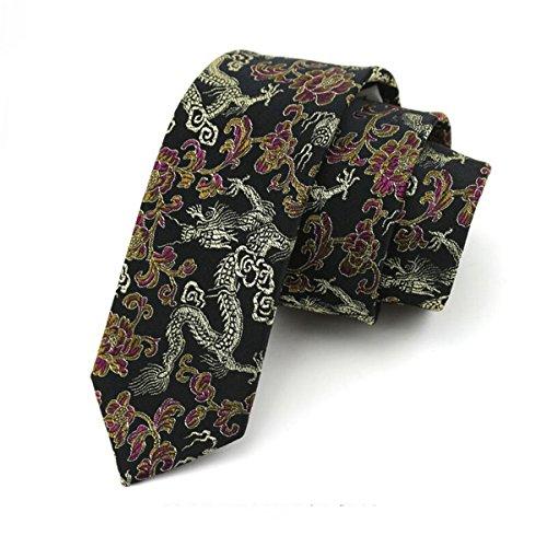 ec9097f3cece2 HXCMAN - Cravate - Homme noir noir Taille Unique