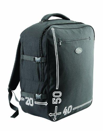 Barcelona, bagaglio a mano garantito di 50x40x20cm, bagaglio a mano per trasporto a bordo (Nero)