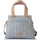 PacaPod Richmond Navy Herringbone Designer Baby Changing Bag - Luxury Blue Pattern 3 in 1 Organising System