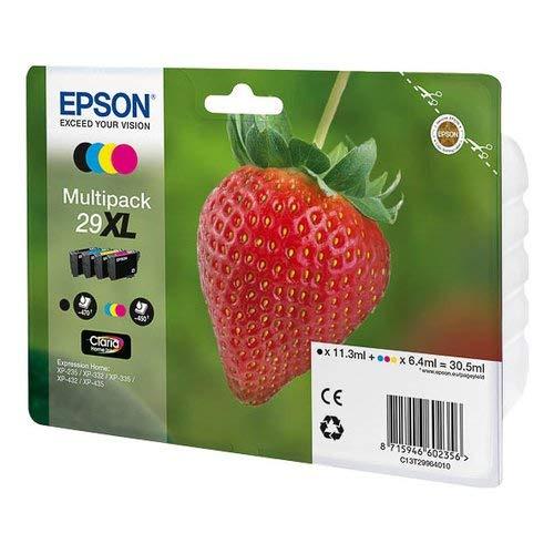 Epson T29864010 Confezione da 4 Cartucce d'Inchiostro Originale