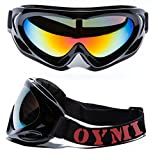 OYMI New Style Professional Ski Goggles UV400 Protection Anti-fog Dustproof Snow Goggles Motorcycle Bicycle Goggles Airsoft Goggles Outdoor Sports Protective Goggles Safety Glasses