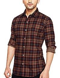 Go Stylish Mens Checks Stylish Casual Shirt (GS-8025 Red Checks)