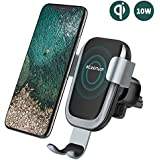 Steanum Qi Induction Mobile Phone Holder for Car Air Vent, for iPhone XS Max, iPhone XS, iPhone Xr, iPhone X, iPhone 8 / 8Plus, Samsung Note 5 / 8, Galaxy S9 / S8 / S7 / S6, Black