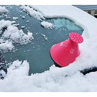 Qianren Widshield Eiskratzerkegel für Auto-ABS-Schnee-Bürsten-Schaber-Schaufel-Werkzeug-runde Hand