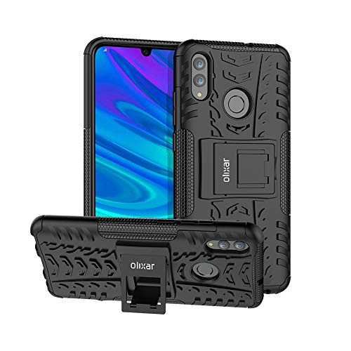 Olixar Tough Protective Case Compatible with Huawei Honor 10 Lite - Heavy  Duty - ArmourDillo - Wirless Charging Compatibile - Black