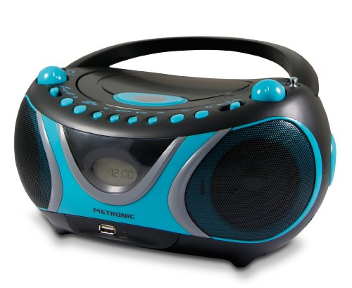 Metronic 477118 CD-MP3-Radio Sportsman Blau/Schwarz