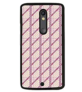 Fuson Premium Prison Pattern Metal Printed with Hard Plastic Back Case Cover for Motorola Moto X Style