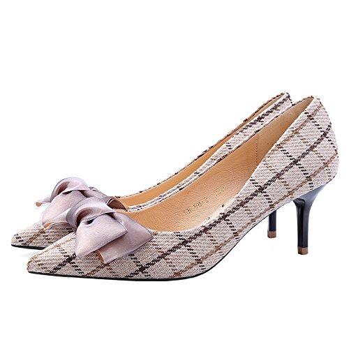 Primavera Zapatos Luz Zapatos Estilo Formato Solo Y La 6Cm De De Marea Alto Y Punta SFSYDDY Zapatos Nuevo brown Dulce La Tacón Otoño R4zSxgOT